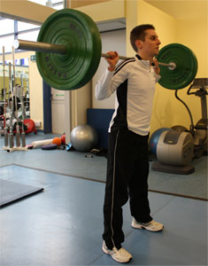 Back Squat for Taekwondo kicking